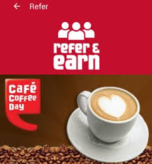 cafe coffee day refer earn loot hiva26