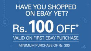 ebay 100rs off on 300rs