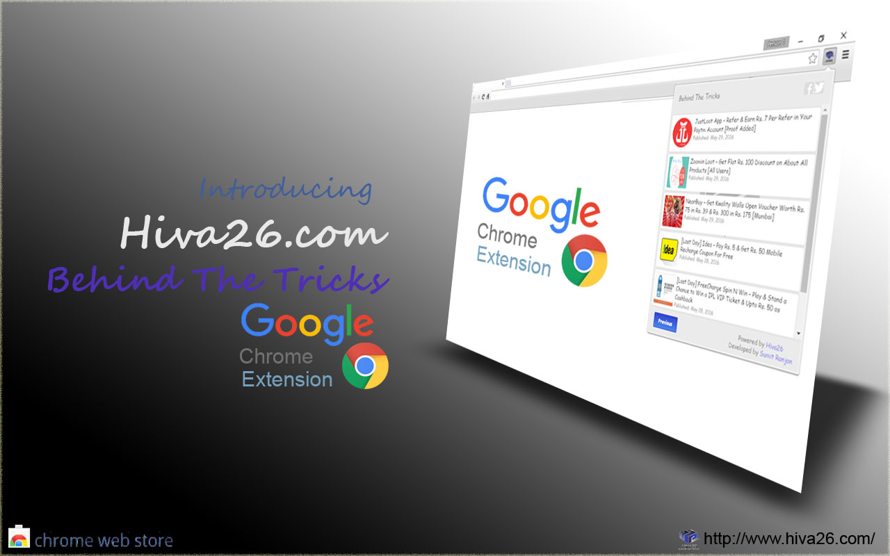 hiva26 chrome extension hompage