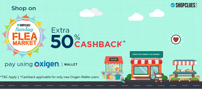 shopclues oxigen wallet offers