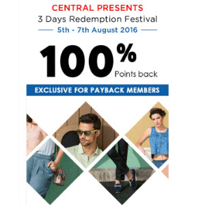 central store offer with payback point