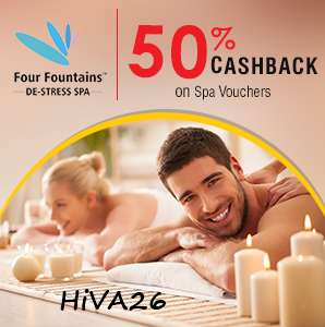 crownit four fountain de-stress spa voucher offer hiva26