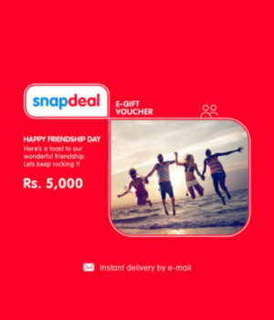 snapdeal e-gift card friendship day hiva26