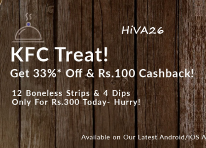 kfc treat by ordering food from snapdeal hiva26