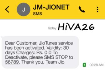 activate free caller tune in jio sim hiva26