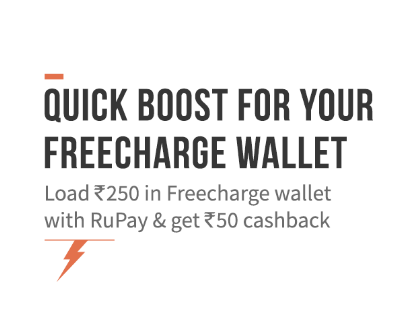 freecharge add money with rupay card