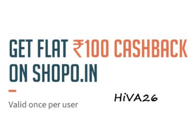 freehcharge 100rs cashback on shopo hiva26