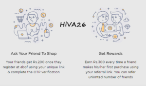 abof refer earn 300rs per referral offers hiva26